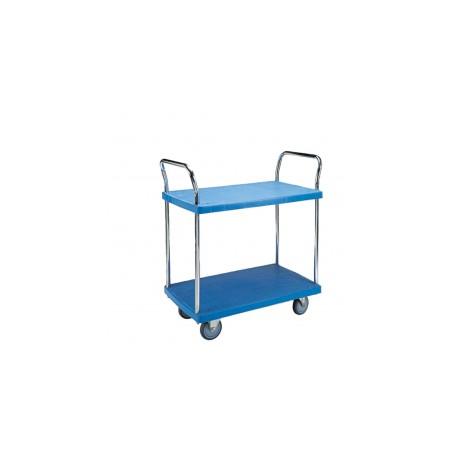 300kg double layer PVC trolley