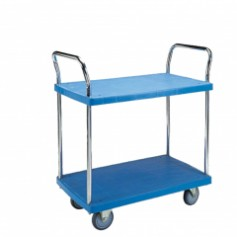 300kg double layer PVC trolley