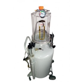 Waste oil extractor with transparent chamber