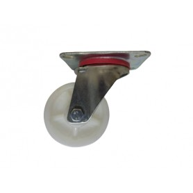 Industrial duty pressed steel swivel bracket with nylon PP wheel