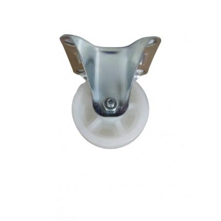 Industrial duty pressed steel fixed bracket with nylon PP wheel