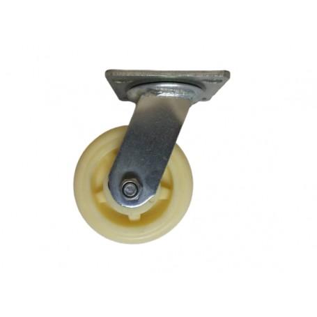 Medium duty welded swivel bracket with nylon wheel