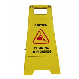 Safety floor sign with printing words